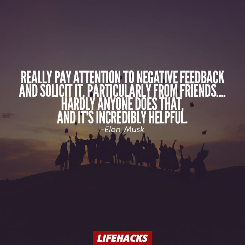 Elon Musk Quote on Feedback