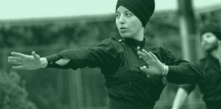 girl doing gatka