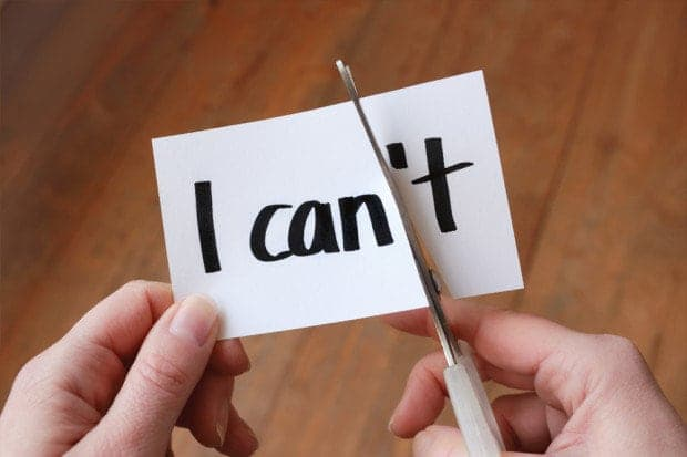 """""""I can't"""", written on a piece of paper"""